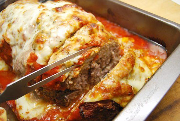 Summer Meatloaf baked in tomatoes